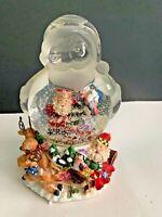 "Gift Gallery Glass Santa Snow Globe Music Box Plays Sleigh Ride 8"""