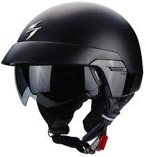 Scorpion Exo-100 Matt Black Open Face Motorcycle Helmet M 57 - 58