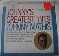 JOHNNY'S GREATEST HITS JOHNNY MATHIS VINYL LP 1962 COLUMBIA RE-ISSUE CHANCES ARE