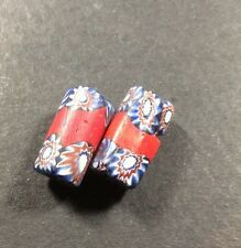 Two Vintage Venetian Trade Beads.millefiori