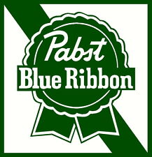 pabst blue ribbon beer decal window or bumper sticker