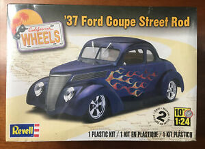 '37 Ford Coupe Street Rod  - Revell Wheels 1/25 scale unassembled kit Sealed/NIB