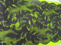 ELEGANTE Schwarz SPITZE 0,5 METER elastisch Borte  19cm breit Selten neue Mode