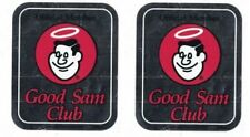 Official Member GOOD SAM CLUB Reflective 4 1/4 x 3 1/2 inch Stickers lot of 2