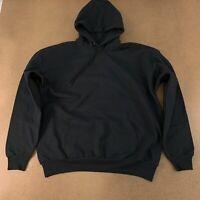 Hanes Men's Size XL Black Ecosmart Fleece Pullover Hooded Sweatshirt P170 New