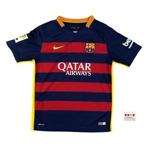 Barcelona 2015/16 Home Soccer Jersey Boys Large Nike