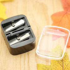 1PC Dual Holes Cosmetic Pencil Sharpener Eyeliner Eyebrow Lip Liner Make Up Tool