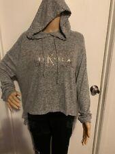 VS Pink Light Weight Pullover Hoodie Medium Gray