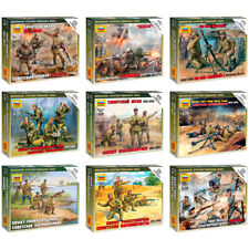 ZVEZDA Model Kits Soviet Soldiers of Land Army & Mortar Weapons, 1941-1943, 1/72