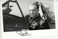 WWII WW2 RAF Ace Battle of Britain BAMBERGER DFC signed photo post war