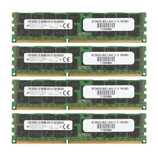 4pcs Micron 16GB PC3-12800R DDR3 1600Mh​z 2Rx4 REG-DIMM ECC SERVER Memory @1H