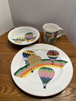 MIKASA~Up and Away CC001 Childrens Cup, BOWL, PLATE V happy bold colors