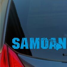 Distressed Samoan Hawaiian Islands sticker decal wood tiki Samoa Polynesian