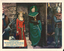 THE MASQUE OF RED DEATH ORIGINAL LOBBY CARD VINCENT PRICE  JANE ASHER 1964
