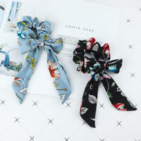Women Girl Flower Hair Ropes Ponytail Holder Elastic Hair Ties Band Accessories
