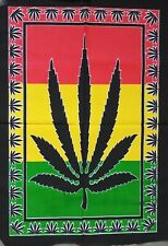 Marijuana Leaf Flag Poster Cotton Wall Hanging Tapestry Decorative Hippie Ethnic