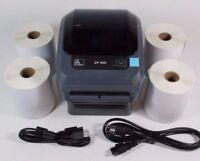 Zebra ZP450 Direct Thermal Label Barcode Printer W/ USB & 1000 Shipping Labels