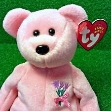 NEW Ty Beanie Baby Mum The Mother's Day Bear 2001 International Exclusive - MWMT