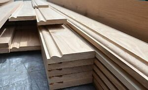 "White Oak Skirting Board 1x5"" PAR to Torus 20x120mm Long Length 100% Oak"
