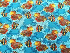 Tropical Fishes in the Sea fabric 1 metre x 112cm 100% Cotton