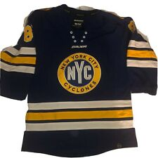 NYC New York City Cyclones Hockey Jersey Bauer Stitched  Youth Sz M |A5