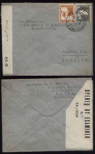 1944 PALESTINE Haifa Censor Examined Cover KK/31100 to Glasgow, Scotland