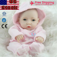 "10"" Reborn Lifelike Baby Doll Full Vinyl Real Looking Newborn Girl Doll Toy Gift"