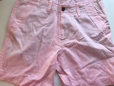 NEW Abercrombie & Fitch Mens Cargo Shorts Pink Size 32