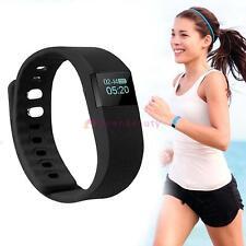 Bluetooth Wristband Bracelet Smart Watches Tracker Step Sleep Pedometer Black FZ