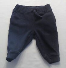 "Gymboree ""Smart Little Guy"" Navy Blue Athletic Sweat Pants, 3-6 mos."