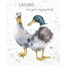 Wrendale Designs Greeting Card Ducks With Love on Your Engagement