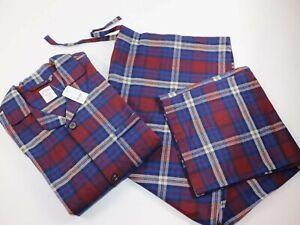 NWT $98 BROOKS BROTHERS XXL Men's L/S Signature TARTAN Flannel Pajama Pant Set