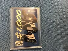 Very Rare Shaquille Oneal GOLD $1000 Phonecard Stamped Sample Factory Tough Find