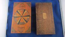2 anciennes boites bois coffret