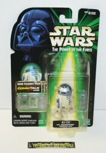 ++ STAR WARS the power of force R2-D2 with hilographic princess leia 1999 NEUF