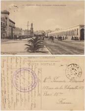 CASABLANCA - MAROC - LA CANNEBIERE - BOULEVARD 4° ZOUAVES (MAROCCO) 1924