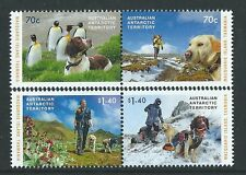 AUSTRALIA ANTARCTIC TERRITORY 2015 DOGS UNMOUNTED MINT,MNH SET OF 4 IN TWO PAIRS