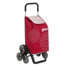 Gimi Tris Floral Carrello portaspesa Rosso