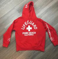 Lifeguard Hoodie Pismo Beach Large  Sweatshirt California