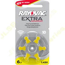 6 x Rayovac AC10 ZA10 YELLOW Hearing Aid Batteries 10 10au PR70 V10 DA230