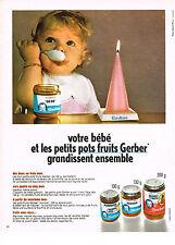 PUBLICITE  1970  GERBER    votre bébé & les petits pots grandissent ensemble