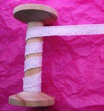 15mm Pale Pink Faux Suede Ruffle Ribbon Trim - Metre