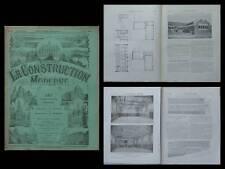LA CONSTRUCTION MODERNE - n°36 - 1912 - GENEVE, RUE CASEMATES, SALLE GYMNASTIQUE