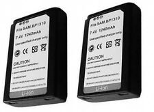 2 ED-BP1310 BP1310 ED-BP1310/EP Batteries for Samsung NX10 NX20 EV-NX20ZZBSBUS