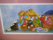 """New: TY Beanie Babies """"All Aboard"""" Framed, Matted and Numbered Art Print"""