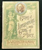 WASHINGTON ALMANAC 1893 - Gems of Literature and Art