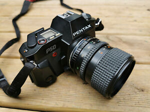 Pentax P50 35mm SLR Film Camera with Chinon 35-70mm Zoom Lens - Working