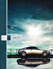 2004 Infiniti G35 Coupe 44-page BIG SIZE Original Car Sales Brochure Catalog