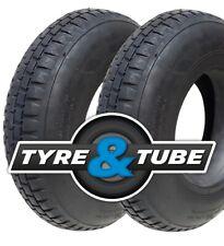 4.80/4.00-8 Wheelbarrow Tyre & Inner Tube X2 4PR Block Tread FAST DELIVERY
