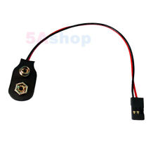 LOT 10 9V Battery Power Clip To Plug RC Servo JR Hitec S Airtronic Z Connector